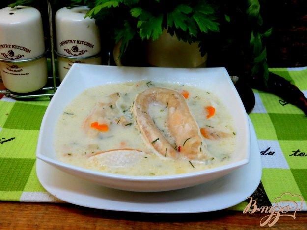 фото рецепта: Суп из брюшек лосося и сырков