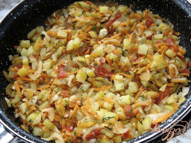фото рецепта: Тушенные кабачки