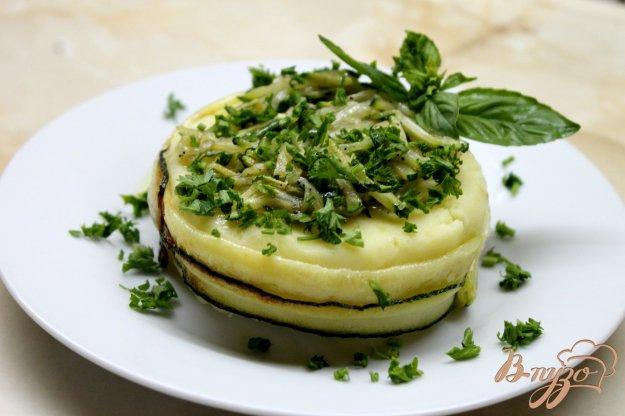 фото рецепта: Гарнир из картофельного пюре и цукини