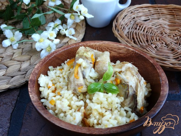 фото рецепта: Плов с булгуром, рисом и курицей в мультиварке