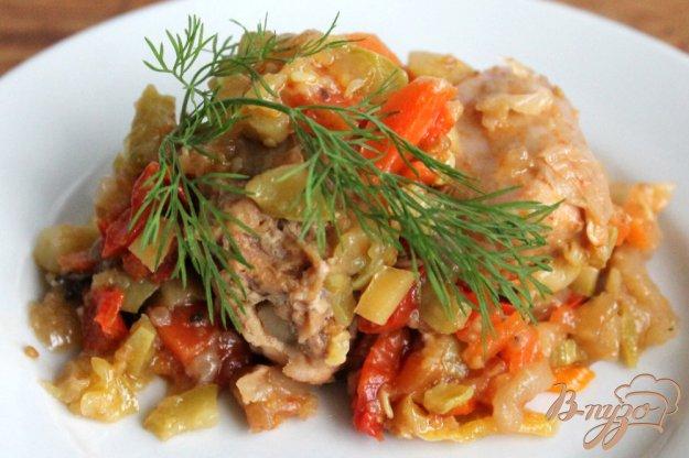 фото рецепта: Кролик тушеный с овощами