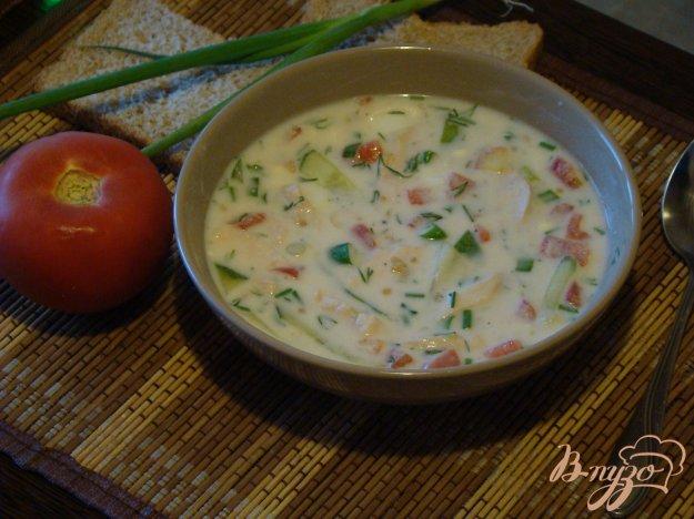 фото рецепта: Окрошка из курицы и помидоров