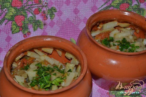 фото рецепта: Жаркое в горшочках из свинины с грибами и овощами