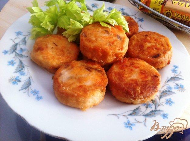 фото рецепта: Лососевые котлетки для фишбургеров