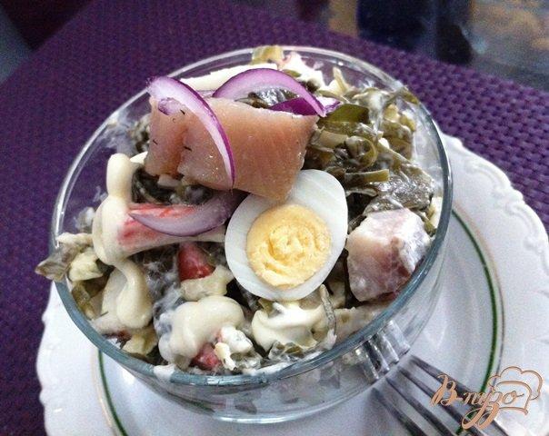 фото рецепта: Салат из морской капусты и сельди