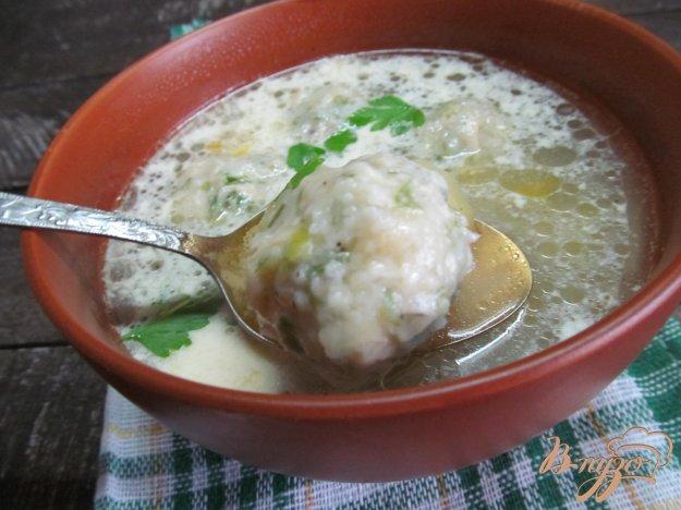 фото рецепта: Суп с кабачком и сырными клецками