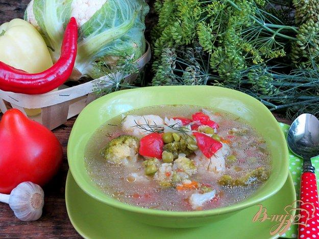 фото рецепта: Суп из трёх видов капусты