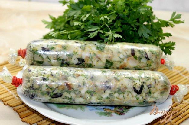фото рецепта: Закуска из копченого сала с зеленью и перцем чили