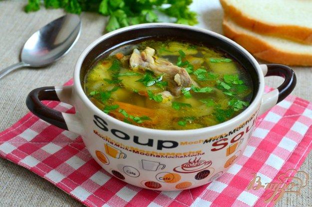 фото рецепта: Куриный суп с баклажанами