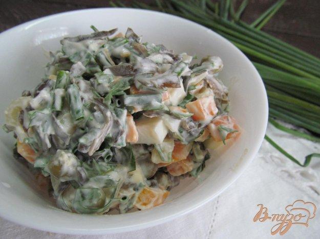 фото рецепта: Овощной салат с морской капустой