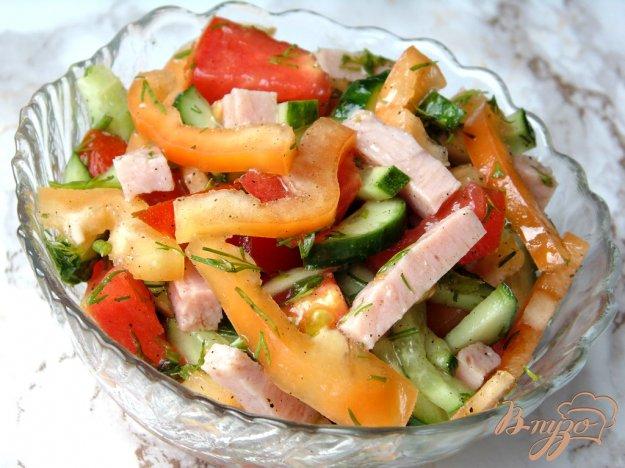 фото рецепта: Овощной салат с бужениной