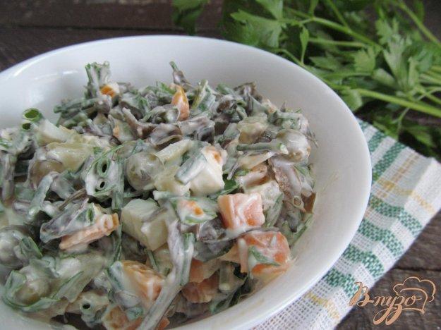 фото рецепта: Салат из морской капусты с овощами