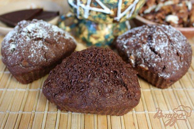 фото рецепта: Шоколадные кексы с грецким орехом