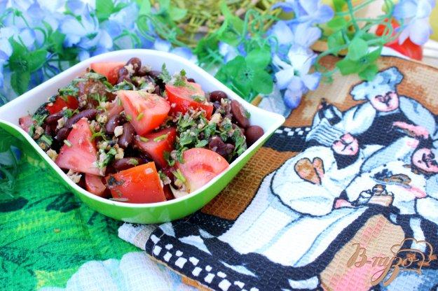 фото рецепта: Салат с красной фасолью и помидорами