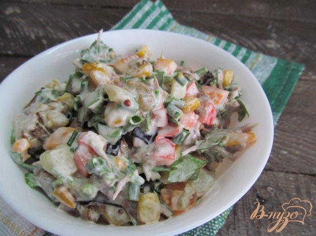 фото рецепта: Салат из жаренного баклажана с мясом