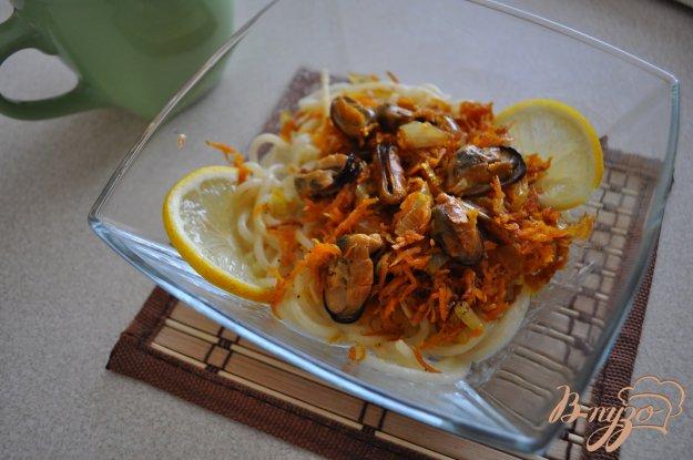 фото рецепта: Спагетти с мидиями