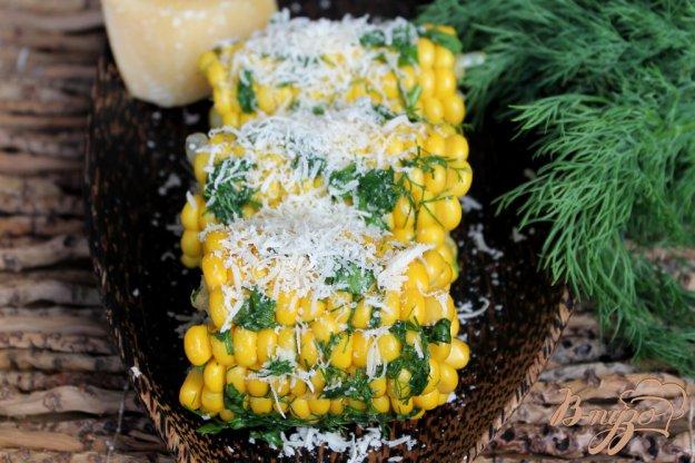 фото рецепта: Кукуруза с зеленью и сыром