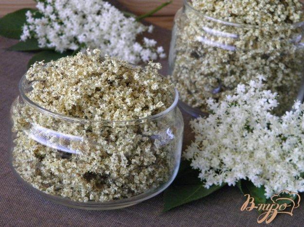 фото рецепта: Заготовка соцветий бузины на зиму