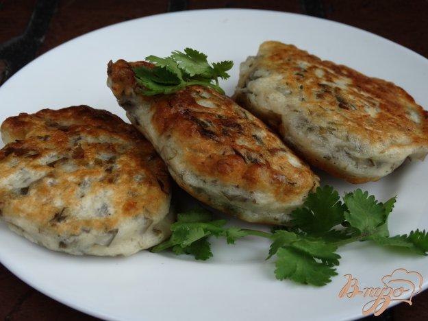 фото рецепта: Оладьи с морской капустой