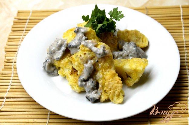фото рецепта: Цветная капуста в грибном соусе