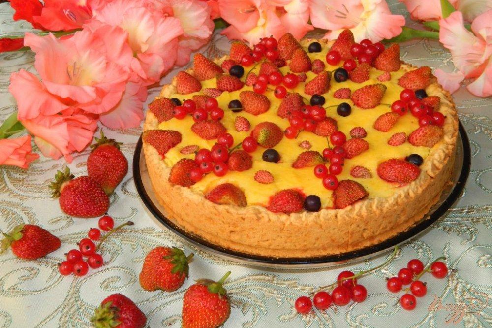торт со свежими ягодами рецепт с фото
