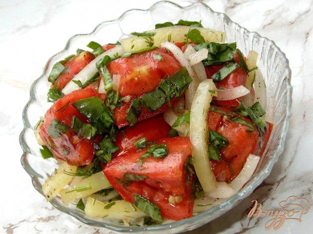 Салат из помидор и перца рецепт с пошагово