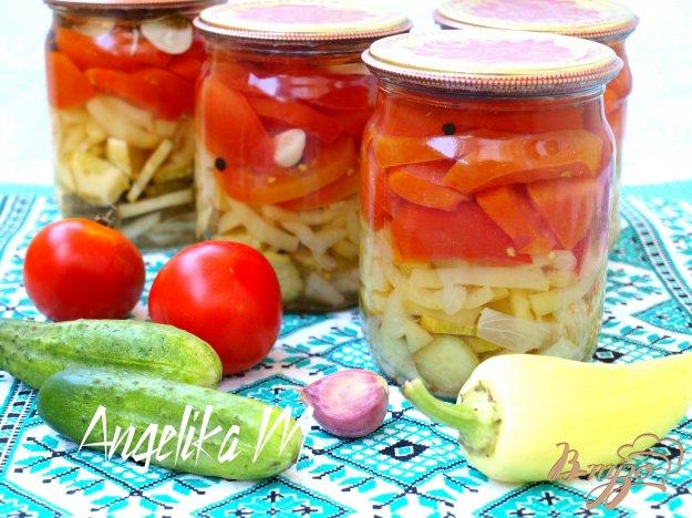 фото рецепта: Салат из летних овощей на зиму