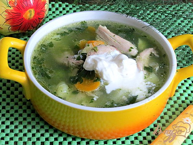 фото рецепта: Суп зелёный со шпинатом