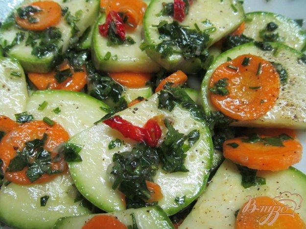 фото рецепта: Быстрые маринованные кабачки