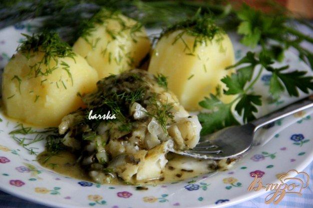 фото рецепта: Рыба под зеленым соусом
