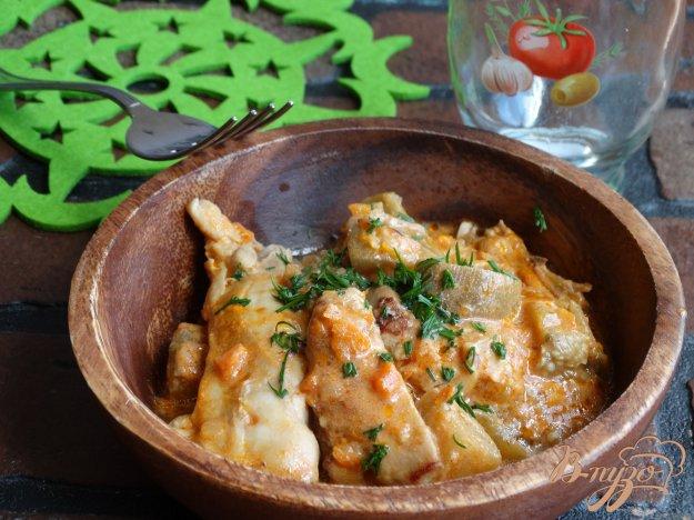 фото рецепта: Рагу из баклажанов с курицей