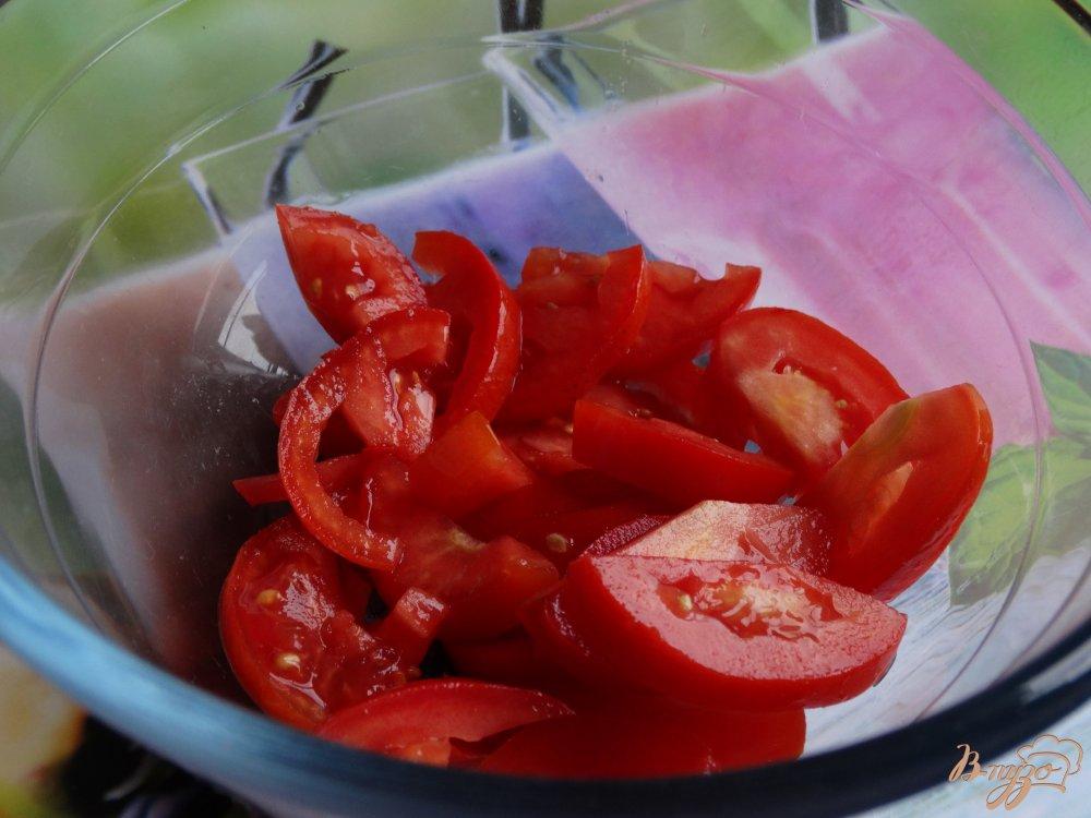 Фото приготовление рецепта: Теплый салат с баклажанами и адыгейским сыром шаг №2