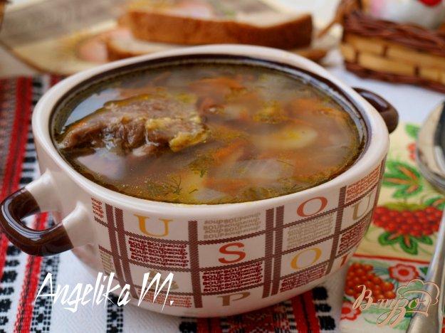 фото рецепта: Суп на курином бульоне с фасолью