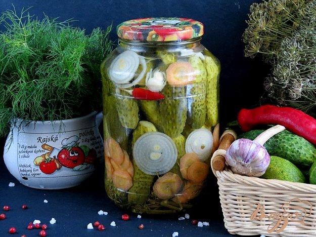 фото рецепта: Огурцы маринованные с лимонной кислотой