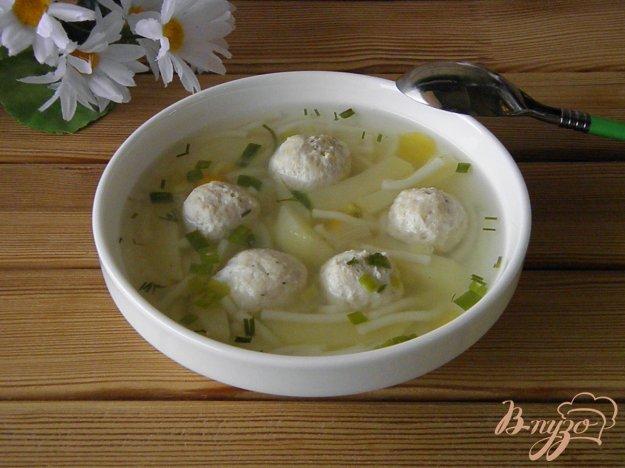 фото рецепта: Суп с вермишелью и фрикадельками