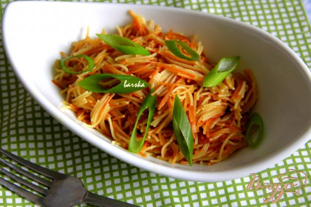 фото рецепта: Вермишель Паутинка с зеленью