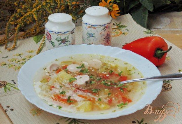 фото рецепта: Овощной суп с сосисками