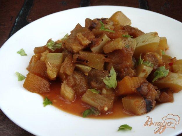 фото рецепта: Рагу из баклажана, тыквы и кабачка