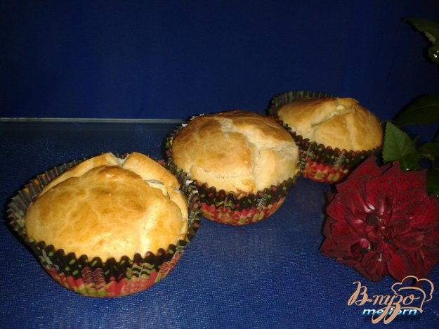 фото рецепта: Кексы на сливках с брынзой