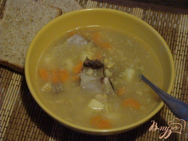 фото рецепта: Густой гороховый суп с мясными косточками