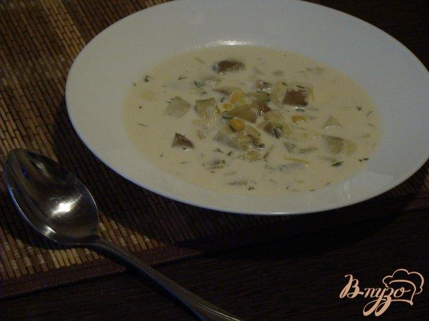 фото рецепта: Картофельный суп с кукурузой
