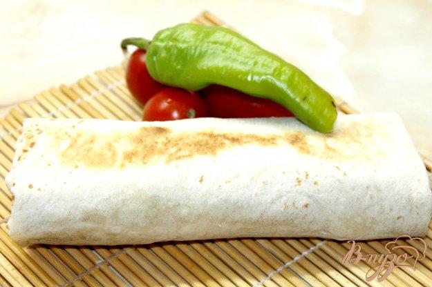 фото рецепта: Острая шаурма со свининой и овощами