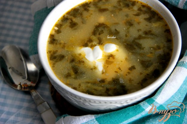 фото рецепта: Сытный зеленый суп