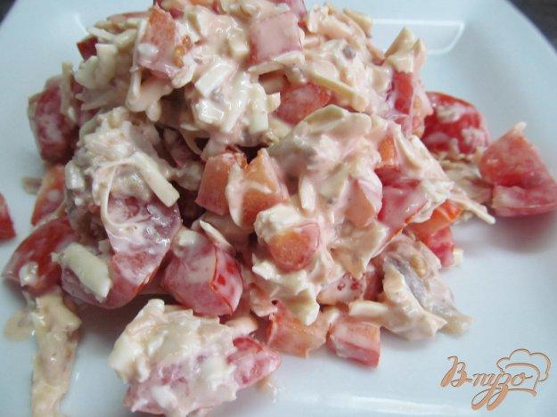 фото рецепта: Салат из куриного мяса с помидором