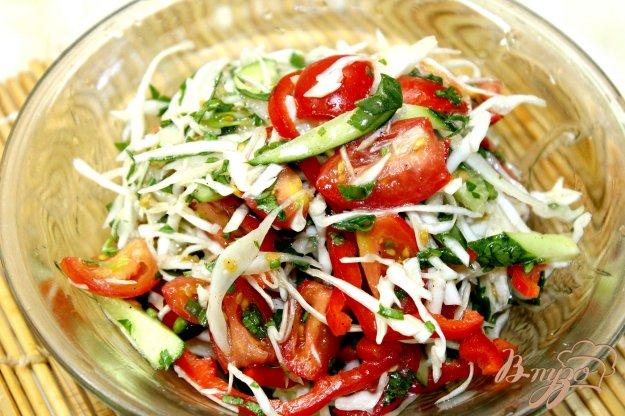 салат из цветной капусты перца
