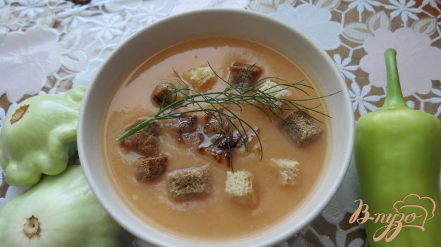 фото рецепта: Овощной суп пюре на мясном бульоне