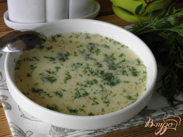 фото рецепта: Суп-пюре сырный с укропом