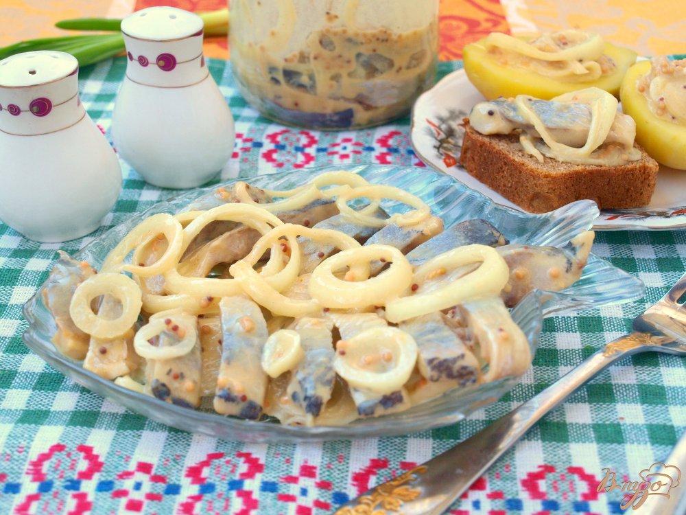 Фото приготовление рецепта: Сельдь в горчичном соусе шаг №7