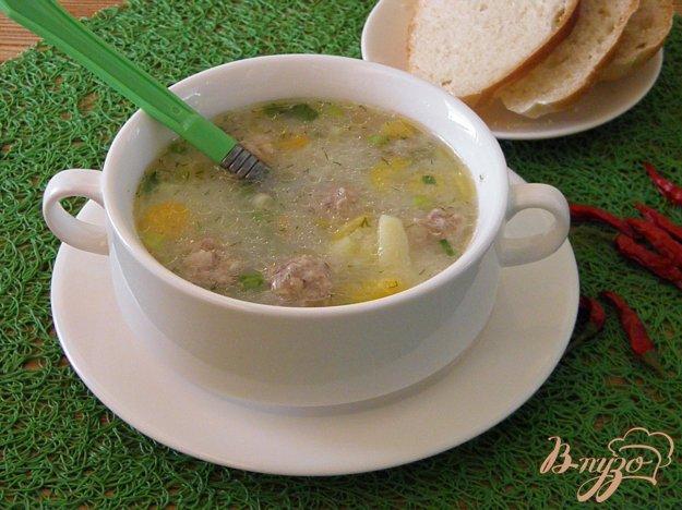фото рецепта: Суп рисовый с фрикадельками