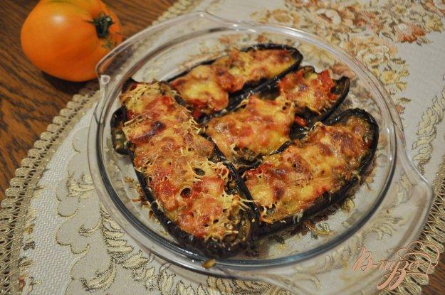 фото рецепта: Запеченные баклажаны с овощами